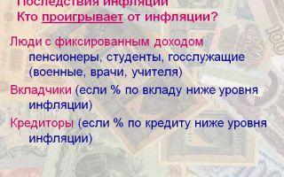 Кто выигрывает и кто проигрывает от инфляции