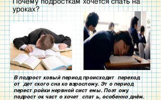 Почему все время хочется спать