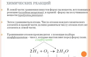 Как уравнять химическую реакцию