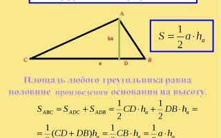 Как посчитать площадь треугольника
