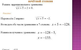 Как решать уравнения с корнями