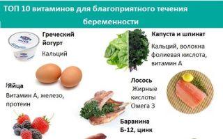 Какие витамины пить в первом триместре