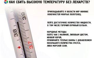 Как сбить температуру 39 у взрослого в домашних условиях