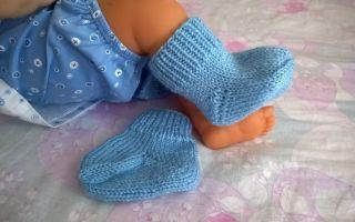 Как связать носочки для новорожденного