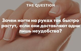 Почему быстро растут ногти