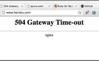 Что значит ошибка 504 gateway time-out