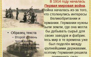 Почему началась первая мировая война