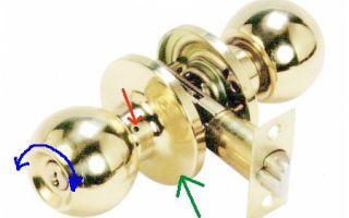 Как разобрать круглую дверную ручку