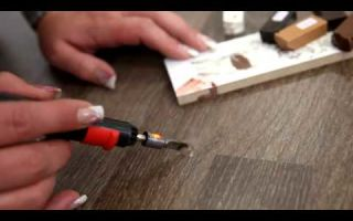 Как убрать царапину на столешнице