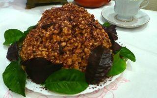 Рецепт домашнего торта «муравьиная горка»