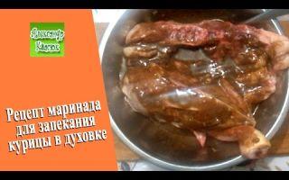 Рецепт маринада для курицы в духовке