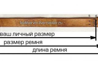 Как определить длину ремня