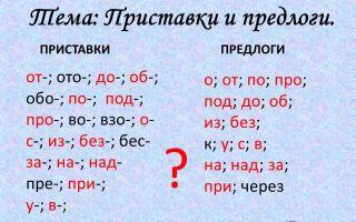 Какие бывают приставки в русском языке
