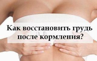 Как вернуть грудь после кормления