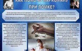 Как помочь наркоману при ломке