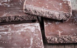 Почему шоколад белеет
