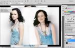 Как объединить фотки  в фотошопе